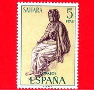 SAHARA SPAGNOLO - Usato - 1972 - Serie Ordinaria - Tipi Umani Sahariani - 5 - Sahara Spagnolo