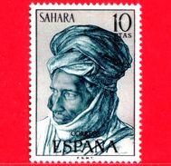 SAHARA SPAGNOLO - Usato - 1972 - Serie Ordinaria - Tipi Umani Sahariani - 10 - Sahara Spagnolo