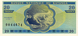 Katanga 20 Francs 2013 émission Privée UNC - Kongo