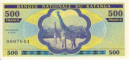Katanga 500 Francs 2013 émission Privée UNC - Zonder Classificatie