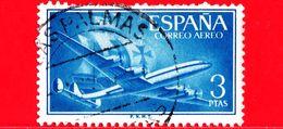 SPAGNA - Usato - 1955 - Super Costellazione E Nave - Posta Aerea - 3 - Usati