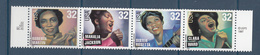1998 USA Folk And Gospel Singers 2 Complete Strips Of 4  MNH  @ Below FACE VALUE - Muziek