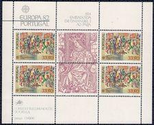 Portugal 1982 Bloc Feuillet Neuf Avec Gomme Ambassade De D. Manuel I Au Pape - 1910-... República