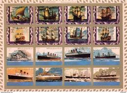 Ajman Bogen Mi. 2861B/2876B Segelschiffe/Titanic/Propellerschiff/Dampfer ** / MNH - Barche