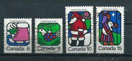 1973 Canada Complete Set Kerst,christmas,noël,weihnachten Used/gebruikt/oblitere - 1952-.... Regering Van Elizabeth II