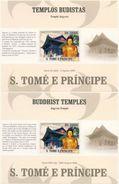 S. TOME & PRINCIPE 2009 - Buddhist Temples - Mi B718 I+II - Buddhism