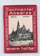 Continental-Absätze - Breslau Rathaus - Erinnophilie