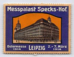 Messpalast Specks-Hof - Ostermesse 1914 - Leipzig - Erinnophilie