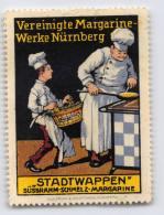 Vereinigte Margarinewerke Nürnberg - Stadtwappen - Erinnophilie