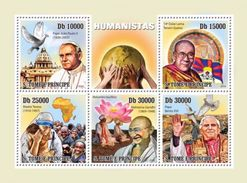 S. TOME & PRINCIPE 2010 - Humanists, M. Teresa - YT 3414-8 - Mother Teresa