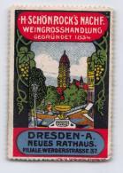 H. Schönrock's Nachf. Weingrosshandlung - Dresden - Erinnophilie