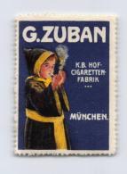 G.Zuban - K.B. Hof-Cigaretten-Fabrik - München - Erinnophilie