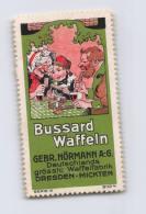 Bussard Waffeln - Gebr. Hörmann Dresden-Mickten - Erinnophilie