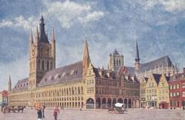 Ieper, Ypres, De Halle En Het Stadhuis (pk38822) - Ieper