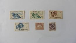 Madagascar: 6 Timbres Neufs Charnière - Madagascar (1889-1960)