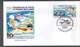 FDC - NOUVELLE CALEDONIE - 2013 - Championnat Du Monde De Natation - FDC