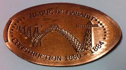 15 RUYNES VIADUC DE GARABIT N°1 MÉDAILLE ÉCRASÉE JETON TOKEN MEDALS COINS MONNAIE 5 CENTS - Elongated Coins