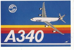 CPM DES COLLAGES DU SUD N° 84 A 340 Airbus - 1946-....: Era Moderna