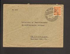Alli.Bes.24 Pfg.Ziffer A.Brief Aus Burg (Spreewald) V.1947 Mit Ortswerbestempel Trachtenkirchgang - Gemeinschaftsausgaben