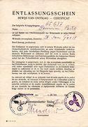 Certificat De Libération Prisonnier De Guerre Stalag XI A ALTENGRABOW 1941 Vers ST Jean-Geest Jodoigne Via ANTWERPEN - Documents