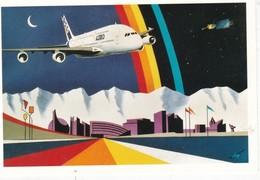 CPM DES COLLAGES DU SUD N° 44 A 380 Airbus - 1946-....: Era Moderna