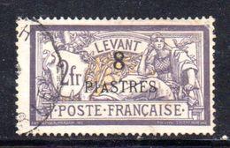 T604 - FRANCIA LEVANTE 1902 , Yvert  N. 22  Usato . - Levant (1885-1946)
