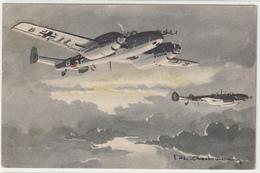 AVION MESSERSCHMITT 110 -ILLUSTRATEUR  -2scans -TBE - 1946-....: Moderne