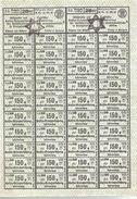 CARNET TICKET RATIONNEMENT REICH BOHEME MORAVIE 1943 POUR POPULATION JUIVE ?? GHETTO ??? - 1939-45