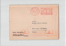 10448 02  DRESDEN SILARGETTEN TO BELLINZONA - Marcofilia - EMA ( Maquina De Huellas A Franquear)