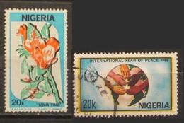 Nigeria 1986 Flora Tecoma Stangs - International Year Of Peace - Nigeria (1961-...)