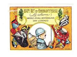 Vignette Militaire Delandre - 51ème Régiment D'infanterie - Vignettes Militaires