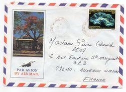 Nlle Calédonie--1982-Lettre  Pour Auxerre-89- Tp Seul Sur Lettre-- Env Illustrée Recto-verso - Briefe U. Dokumente