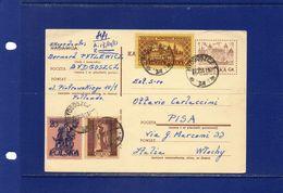 ##(003)POSTAL HISTORY - Poland- 1961 -     Postal Card  To Pisa (Italy)  - Written In  Esperanto - 1944-.... República