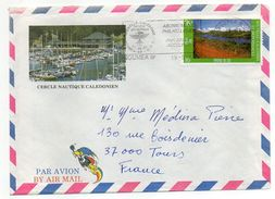 """Nlle Calédonie--198?--Lettre  Pour Tours-37--- Tp Seul Sur Lettre-- Env Illustrée""""Cercle Nautique Calédonien""""recto-verso - Briefe U. Dokumente"""
