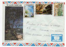 """Nlle Calédonie--1985--Lettre Nouméa  Pour Auxerre-89- Tp Env Illustrée"""" Baie Des Tortues """" Recto-verso - Briefe U. Dokumente"""