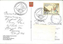 Postcard Vatican Via Bulgaria 1996.nice Stamp Motive Pope John Paul II - Vatican