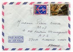 Nlle Calédonie--1984--Lettre Nouméa  Pour Auxerre-89- Tp Env   Recto-verso - Briefe U. Dokumente