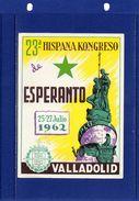 ##(003)POSTAL HISTORY - Spain - 1962 -    1962  23rd Esperanto Congress Postcard Sent To Pisa - Italy - Esperanto