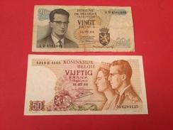 2 BILLETS BELGE 20F Et 50F Voir Scan - Coins & Banknotes