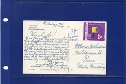 ##(003)POSTAL HISTORY -Hungary - 1961 - Red Cross Stamp On  Postcard Sent  To Pisa  -  Italy -Written In Esperanto - Cruz Roja