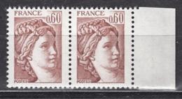 FRANCE  1981 - PAIRE  Y.T. N° 2119 - NEUFS** /Y208 - Frankreich