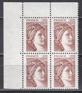 FRANCE  1981 - BLOC DE 4 TP  Y.T. N° 2119 COIN DE FEUILLE - NEUFS** /Y208 - Frankreich
