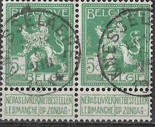 _7Be-564: N°110: Type E18: KNESSELAERE  6 VIII 1914: Oorlog Is Al Bezig...paar - 1912 Pellens
