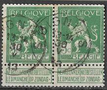 _7Be-563: N°110: Type E18-m2: SOIGNIES...paar - 1912 Pellens
