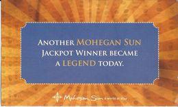 Mohegan Sun Casino - Uncasville, CT USA - Slot Jackpot Winner / Machine Out Of Service Card - Casino Cards