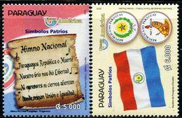 SV0130 Paraguay 2010 National Flag National Anthem 2V MNH - Stamps