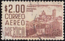 MEXICO - Scott #C220Hj View Of Taxco 'Perf. 11' / Used Stamp - Mexico
