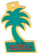 California Casino - Las Vegas, NV - Palm Tree Shaped Key Chain Dangle - Casino Cards
