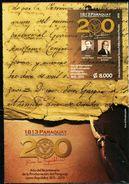 SV0147 Paraguay 2013 Writer Hong Kong Manuscript M/S MNH - Famous People
