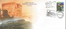 Special Cover, Shivneri Fort Known To Be A Place Of Buddhist Dominion,The Caves, Rock-cut Architecture, Located Nr Junar - Buddhism